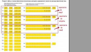 Пример заполнения раздела № 2 отчета 6-НДФЛ